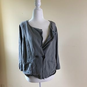 Linen Blend Lagenlook Jacket Nordstrom Collection